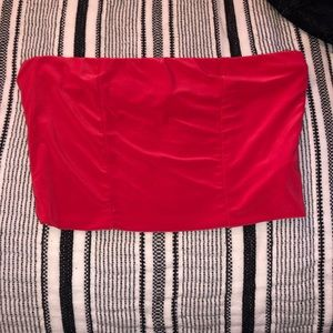PrettyLittleThing Red Tube Top